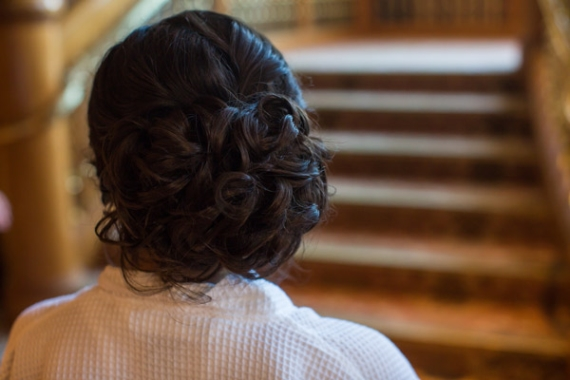 curly updo with veil | styled by hair and makeup by steph, photo by terra cooper