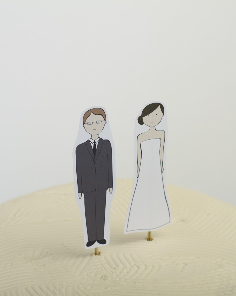 custom banner wedding cake topper