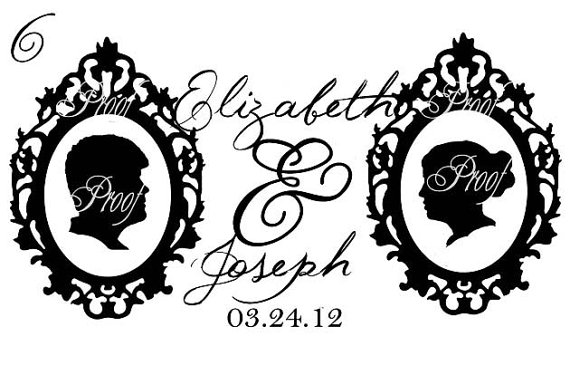 custom design for silhouette wedding