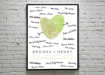 custom fingerprint guest book poster
