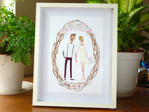wedding gift ideas from a to z - custom portrait by jolly edition