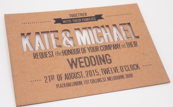 cut out invitation