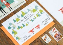 cute fox wedding invitations by 3eggsdesign