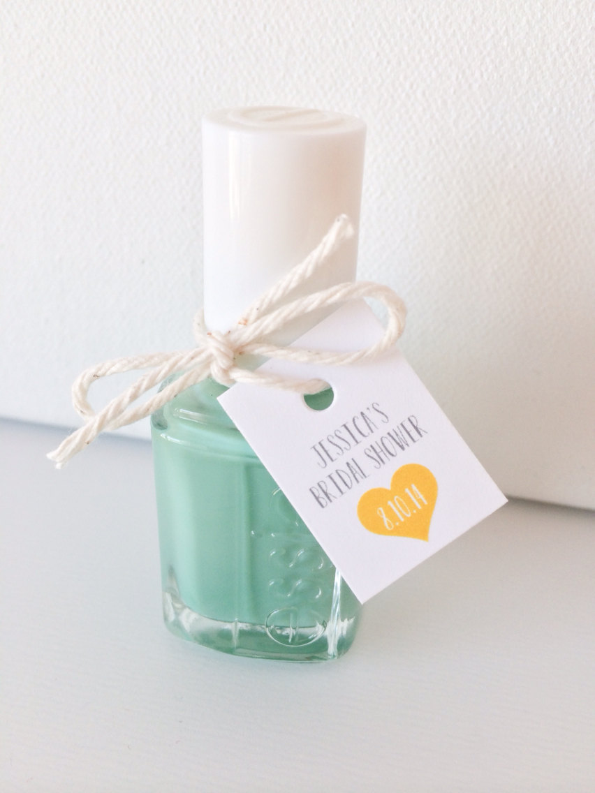 Nail Polish Bridal Shower Favors | via http://emmalinebride.com/favors/nail-polish-bridal-shower-favors/ | cute idea!