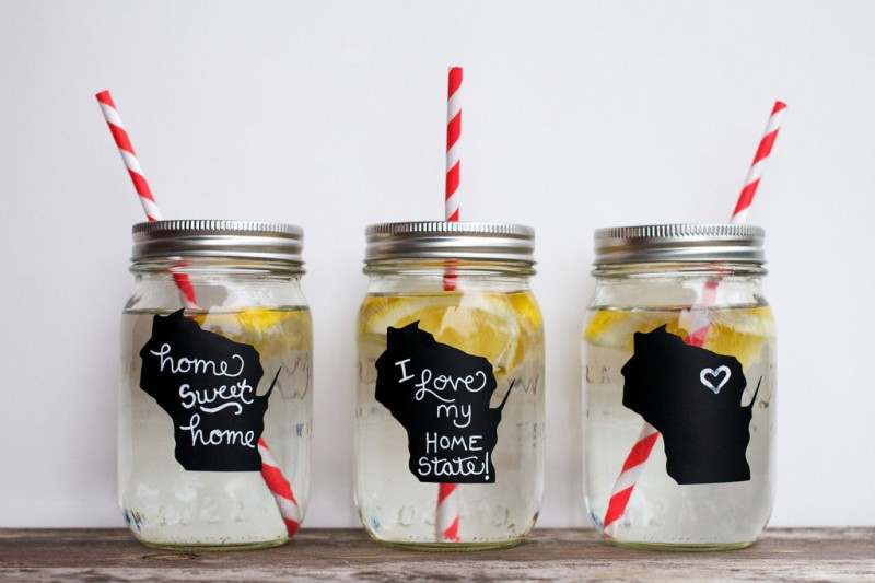diy mason jar drinking glasses |  | Best DIY Wedding Projects via http://emmalinebride.com/decor/best-wedding-diy-projects/
