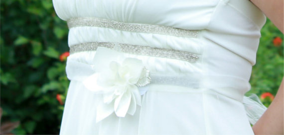 dahlia and tulle wedding dress sash