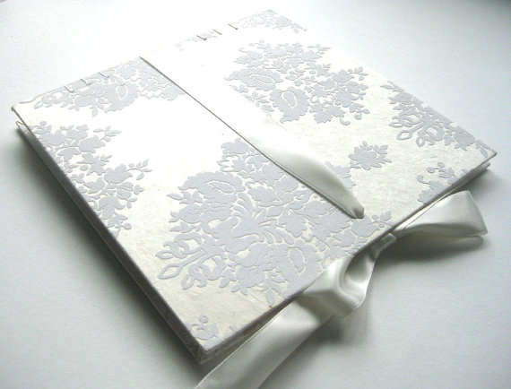 damask guest book