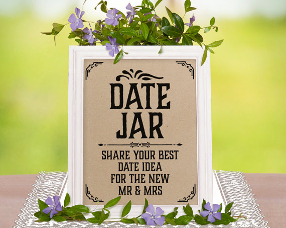 How to Make a Beautiful Date Jar Guest Book for Weddings | http://emmalinebride.com/reception/date-jar-guest-book/
