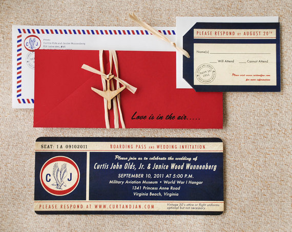 destination wedding airplane wedding invitations - 5 Creative Wedding Invitation Styles