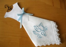 diy wedding dress hankie