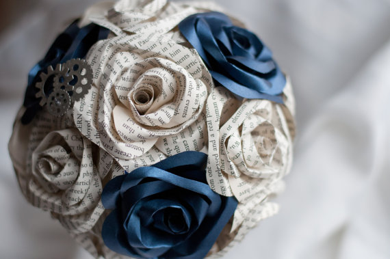 dr who paper flower bouquet via 7 Paper Flower Bouquets to Pick for Weddings