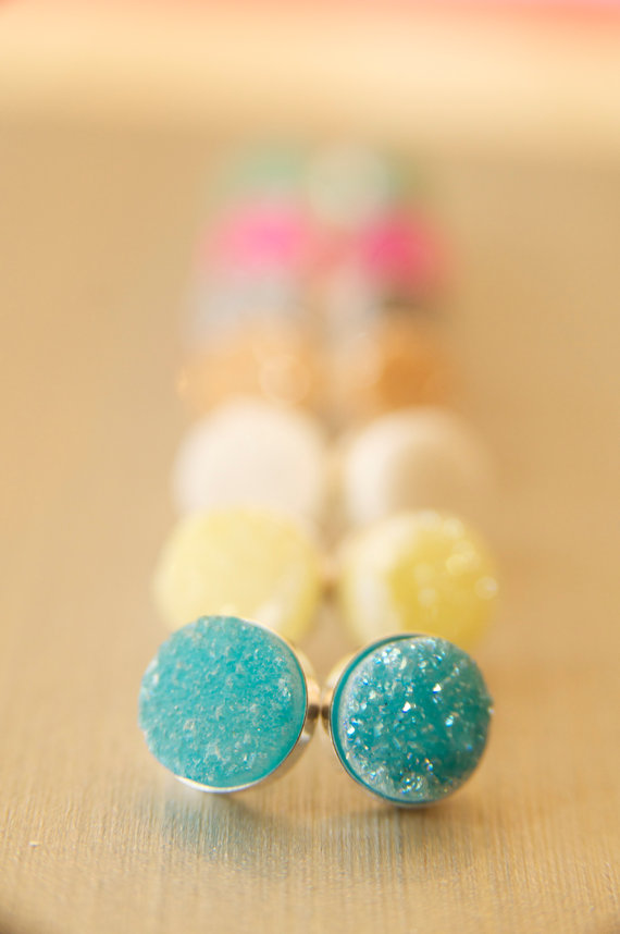 druzy earrings | druzy bridesmaid jewelry