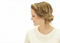 easy fishtail updo