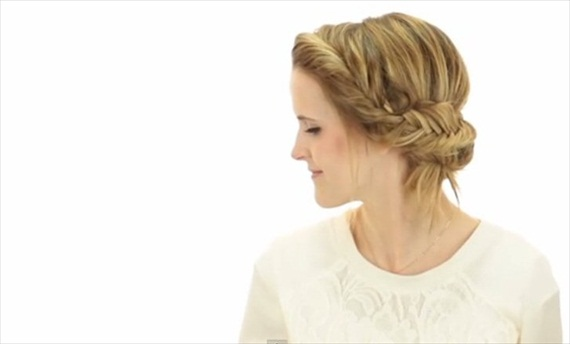 This hairstyle is perfect for the bride or her bridesmaids! Check out the Easy 5 Minute Fishtail Updo + How-To Video by Hair and Makeup By Steph http://wp.me/p1g0if-oXk