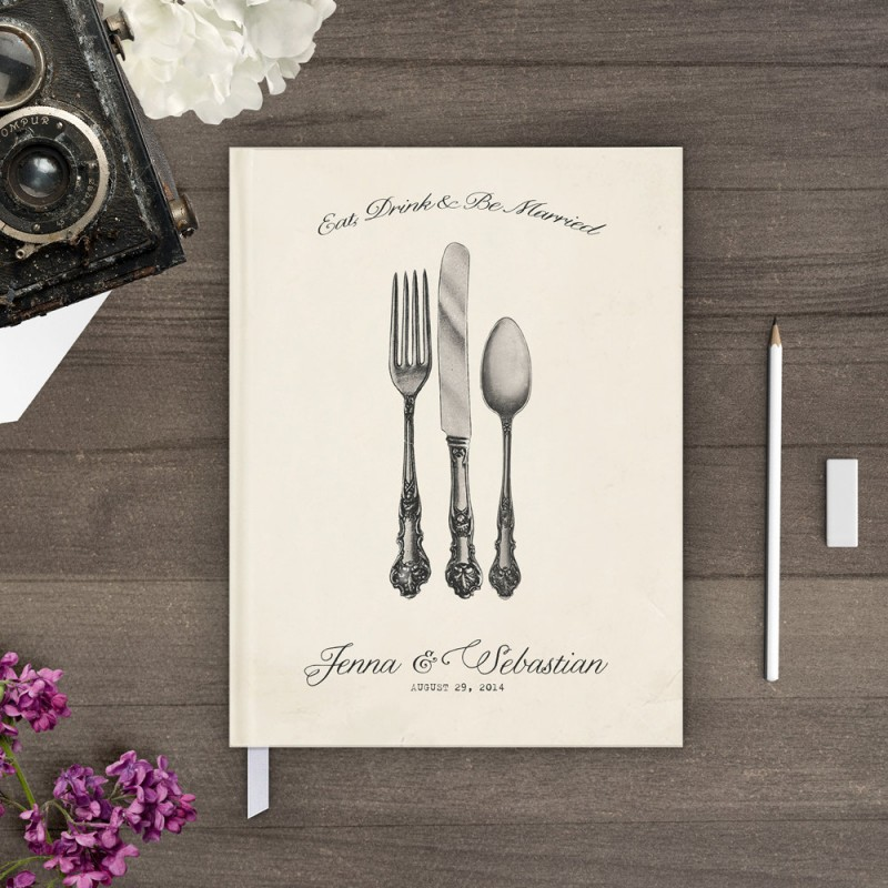 eat drink and be married guest book by nostalgic imprints