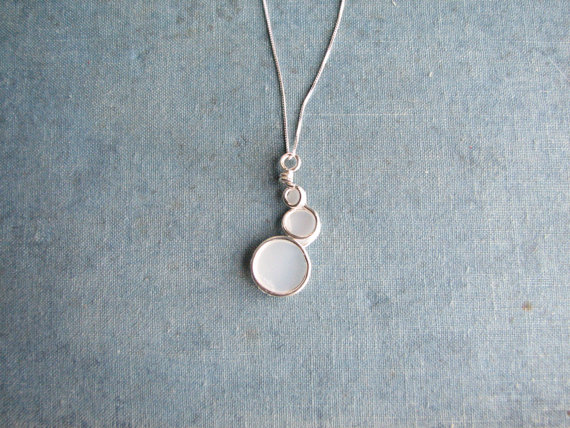 eco-friendly jewelry - necklace made from repurposed milk jug