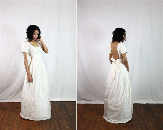 Eco Wedding Ideas - organic fair trade wedding dress by solitary pearl