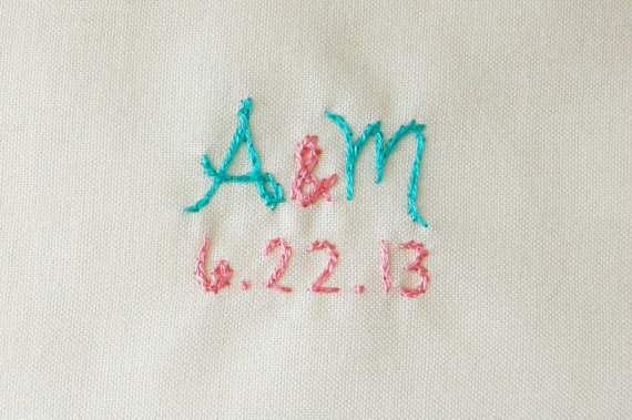 embroidered wedding ideas - embroidered tie square - 2 (by the merriweather council)