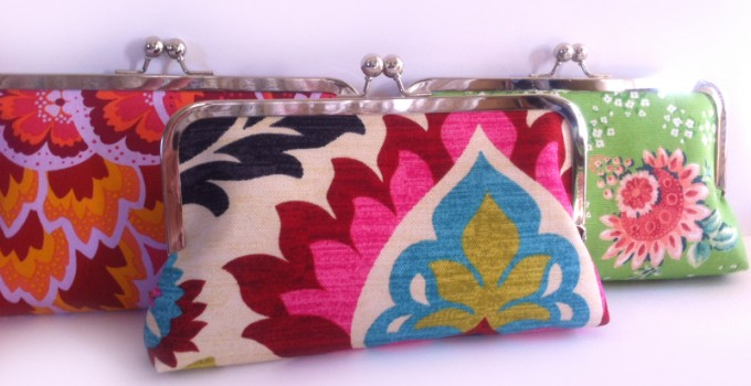 bridesmaid clutch bags by flora handmade