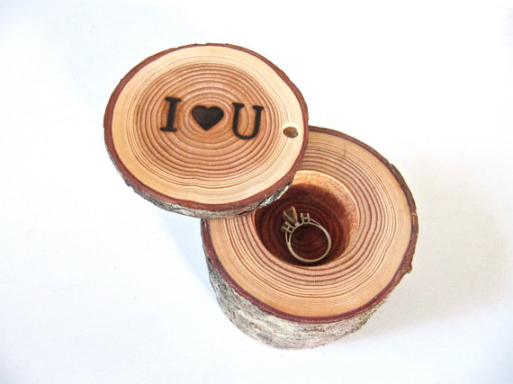 8 Creative Ring Holders (wood ring box by End Grain Wood Shoppe)