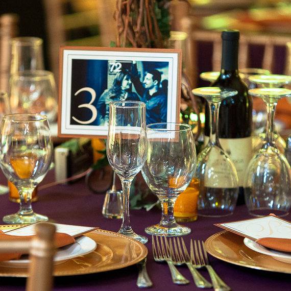 Engagement Photo Table Numbers (by Willow Glen Stationery via EmmalineBride.com) #handmade #wedding