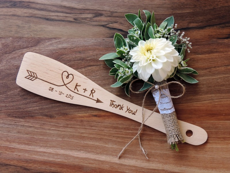 engraved wooden spoon by MelindaWeddingDesign