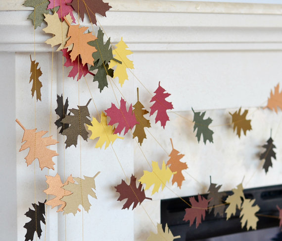 fall leaves wedding garland, wedding inspiration and decor