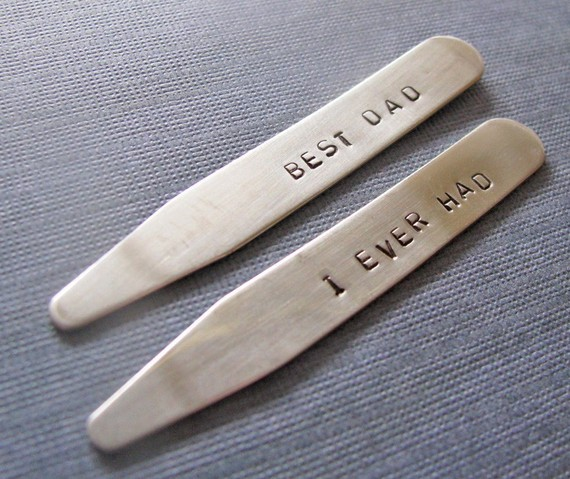 father shirt collar stays (by julie the fish designs)