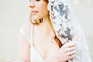 floral lace wedding veil