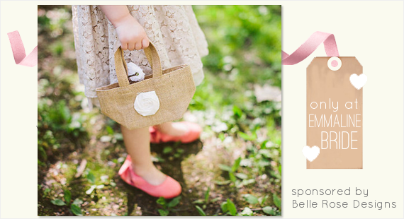 Burlap Flower Girl Bag Giveaway! - What Does a Flower Girl Do? via EmmalineBride.com