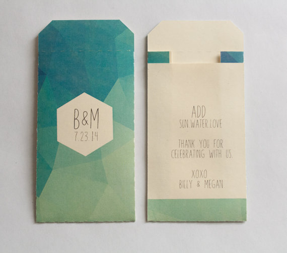 geometric wedding favor bags | 9 Modern Geometric Wedding Details