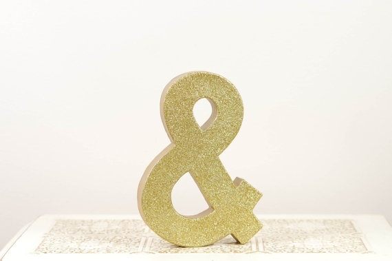gold ampersand via $75 Gift Card Giveaway!