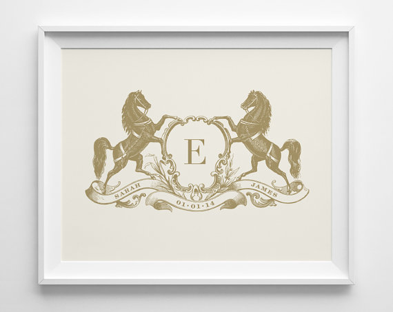 gold and ivory anniversary print via 27 Amazing Anniversary Gifts by Year https://emmalinebride.com/gifts/anniversary-gifts-by-year/