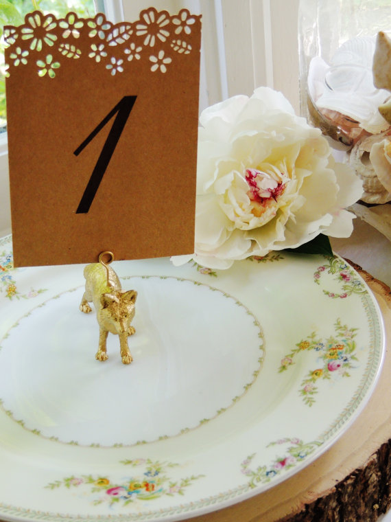 gold fox table number holders by unconventionalj