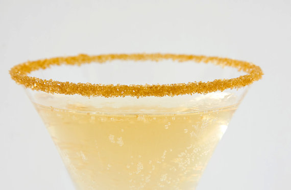 Gold Cocktail Rimming Sugar for your Bar