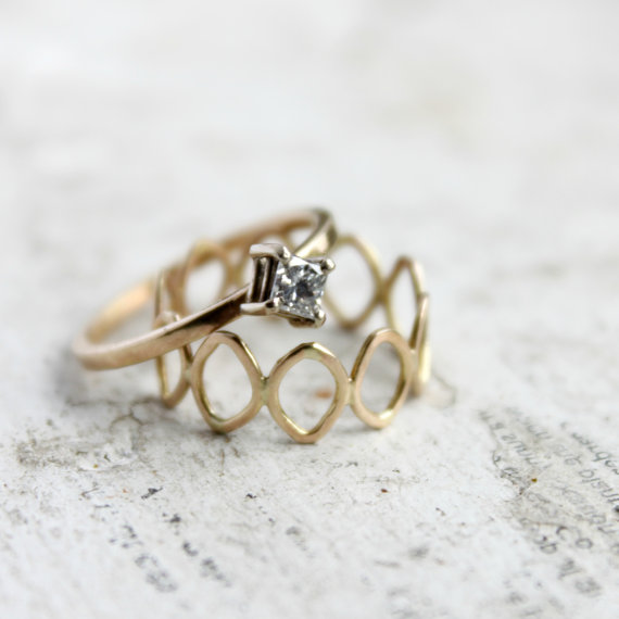 Gold Wedding Inspiration (engagement ring: moira k. lime)