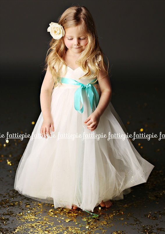 grace ankle length flower girl dress (by Fattie Pie) - formal flower girl dresses #wedding