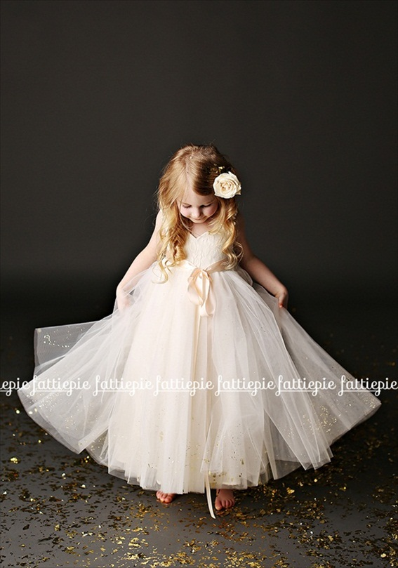 grace flower girl dress (by Fattie Pie) - formal flower girl dresses #wedding