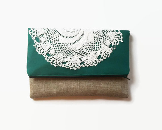 green-fold-over-clutch