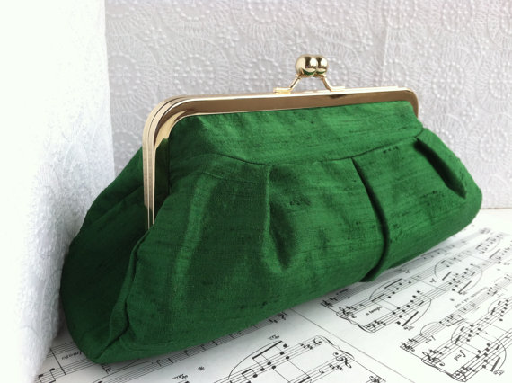 Pleated Wedding Purse
