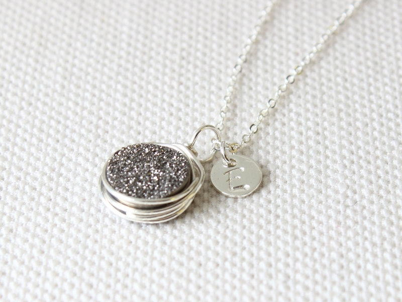 druzy necklace etsy find - from Davie and Chiyo - via http://emmalinebride.com/bridesmaids/druzy-earrings-etsy/