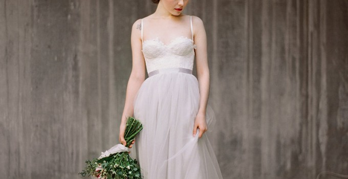 grey wedding dress ballet inspired