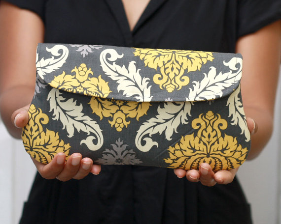 grey-yellow-damask-clutch-purse