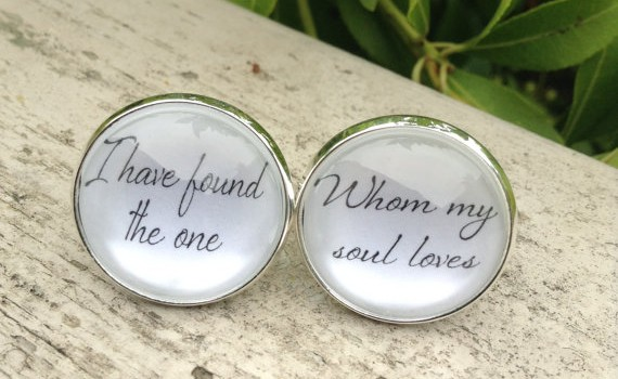 groom cuff links - i have found the one whom my soul loves