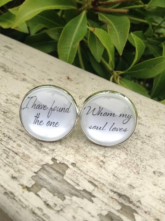 groom cufflinks - i have found the one whom my soul loves