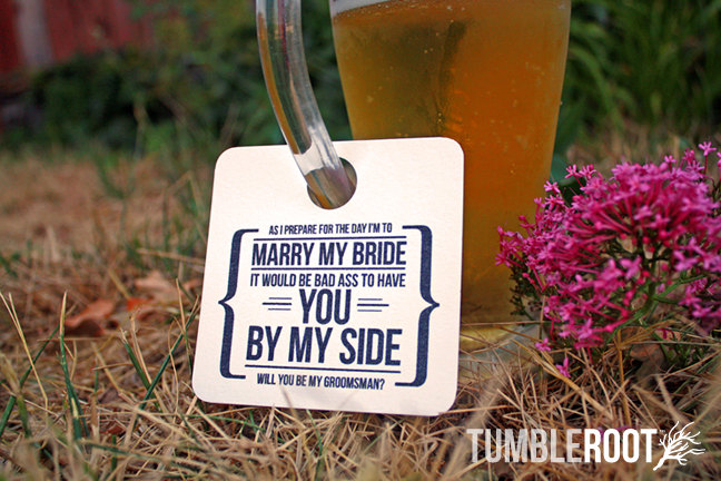 groomsman beer tag | Funny Groomsmen Cards He'll Actually Want to Send | via http://emmalinebride.com/groomsmen/groomsmen-cards-funny/