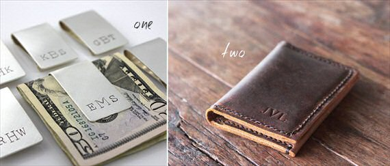 groomsmen gifts money clip leather wallet - Top Groomsmen Gift Ideas for 2014