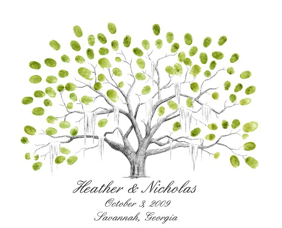 Wedding Guest Book Tree Template
