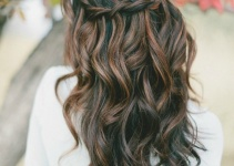 hair down waterfall braid