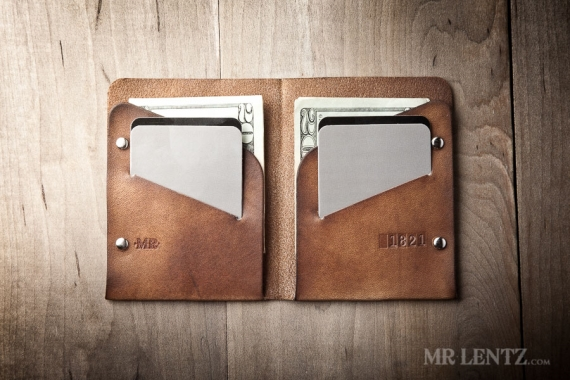 handmade leather wallet via 12 Manly, Unique Groomsmen Gift Ideas